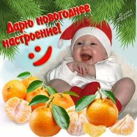 Открытка с пожеланиями новогоднего настроения,новогоднее настроение,малыш Открытка картинка открытки картинки новогоднее настроение,пожелания новогоднего настроения,праздничного настроения,открытка картинка новогоднего настроения скачать